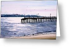 St. Simons Island Fishing Pier Greeting Card by Sam Sidders
