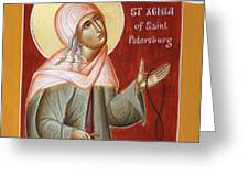 St Xenia of St Petersburg Greeting Card by Julia Bridget Hayes