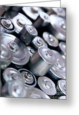 Stack Of Batteries Greeting Card by Carlos Caetano