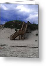Stairway To Reality Greeting Card by Linda Mesibov