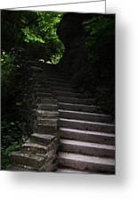 Stairway Watkins Glen 1  Greeting Card by InTheSane DotCom