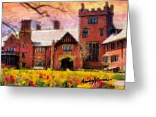 Stan Hewyt Hall And Gardens Greeting Card by Anthony Caruso