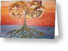 Standing In The Storm Greeting Card by Alexandra Torres