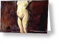 Standing Nude Woman Greeting Card by Cezanne