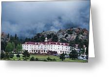 Stanley Hotel At Estes Park Greeting Card by Gregory Scott