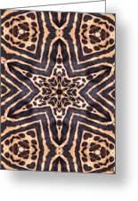 Star Of Cheetah Greeting Card by Maria Watt
