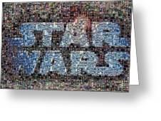 Star Wars Posters Mosaic Greeting Card by Paul Van Scott