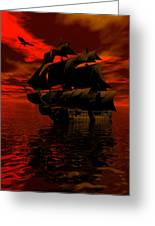 Starboard Tack Greeting Card by Claude McCoy