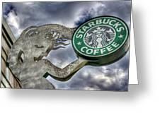 Starbucks Coffee Greeting Card by Spencer McDonald