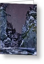 Starry Creek Greeting Card by Brandon Broderick