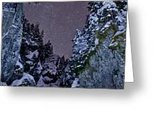 Starry Creek Greeting Card by Brandon Broderick