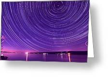 Starry Night Of Cayuga Lake Greeting Card by Paul Ge