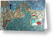 Starry Riverwalk Greeting Card by Ann Salas