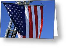 Stars and Stripes Greeting Card by Karol  Livote