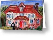 Stately City House Greeting Card by Mary Carol Williams