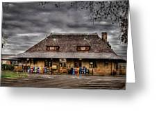Station - Westfield Nj - The Train Station Greeting Card by Mike Savad