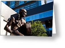Statue Of Willie Nelson - Side View Greeting Card by Mark Weaver