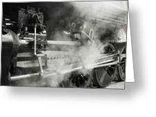 Steam Power Greeting Card by Richard Rizzo