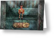 Steampunk - My Favorite Toy Greeting Card by Mike Savad