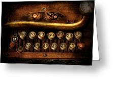 Steampunk - Remuneration mechanism Greeting Card by Mike Savad