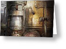 Steampunk - Silent into the night Greeting Card by Mike Savad