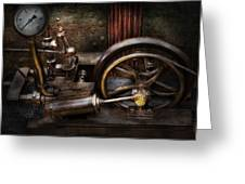 Steampunk - The Contraption Greeting Card by Mike Savad
