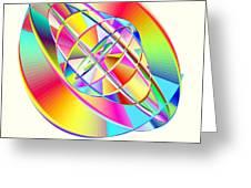 Steampunk Gyroscopic Rainbow Greeting Card by Michael Skinner