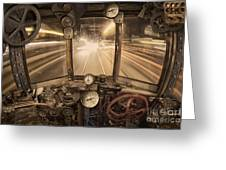 Steampunk Time Machine Greeting Card by Keith Kapple