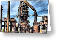 Steel Stacks Bethlehem Pa. Greeting Card by DJ Florek