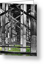 Steel Support Greeting Card by Rudy Umans