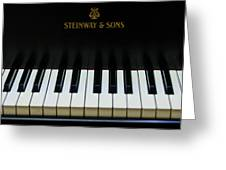 Steinway Grand Two Greeting Card by Sam Hymas