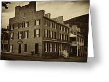 Stephensons Hotel - Harpers Ferry  West Virginia Greeting Card by Bill Cannon