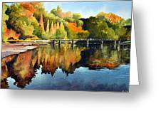 Stepping Stones Bolton Abbey Greeting Card by Paul Dene Marlor