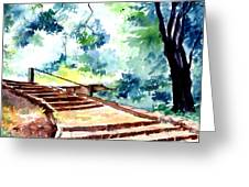 Steps To Eternity Greeting Card by Anil Nene
