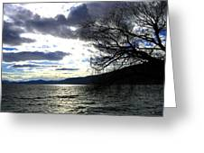 Sterling Silver Sunset Greeting Card by Will Borden