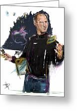 Steve Jobs Greeting Card by Russell Pierce