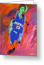 Steve Nash-vision Of Scoring Greeting Card by Bill Manson