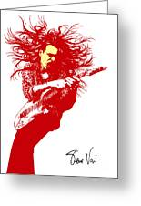 Steve Vai No.01 Greeting Card by Caio Caldas