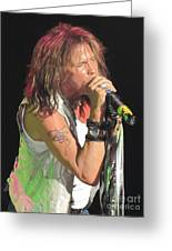 Steven Tyler Concert Picture Greeting Card by Jeepee Aero