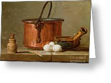 Still Life Greeting Card by Jean-Baptiste Simeon Chardin