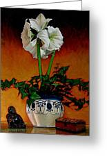 Still Life With Buddha Greeting Card by Doug Strickland