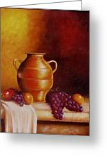 Still Life With Pot Greeting Card by Gene Gregory