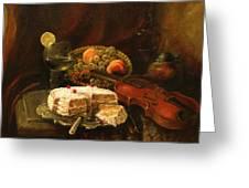 Still-life With The Violin Greeting Card by Tigran Ghulyan