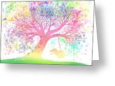 Still More Rainbow Tree Dreams 2 Greeting Card by Nick Gustafson