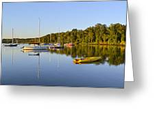 Still Waters On The Potomac River At Belle Haven Marina Virginia Greeting Card by Brendan Reals