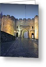 Stirling Castle Scotland In A Misty Night Greeting Card by Christine Till