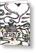 Stitchlip's House Greeting Card by Levi Glassrock