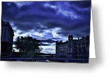 Stockholm Cold Greeting Card by Ramon Martinez