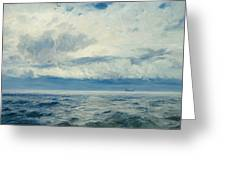 Storm Brewing Greeting Card by Henry Moore