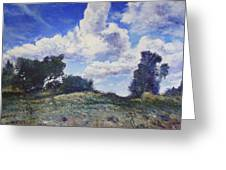 Storm Clouds Over Monte Cardeto Lazio Italy 2009 Greeting Card by Enver Larney